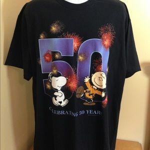 Vintage Peanuts 50th Anniversary Tshirt Sz XL